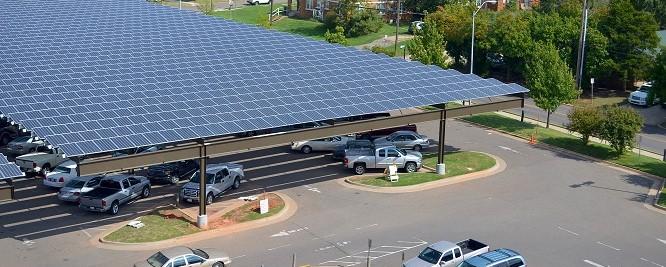 Solar panels at the OKC VA Hospital
