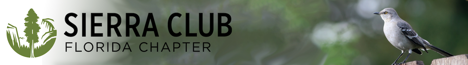 Sierra Club Florida Chapter Banner with Bird on Fence