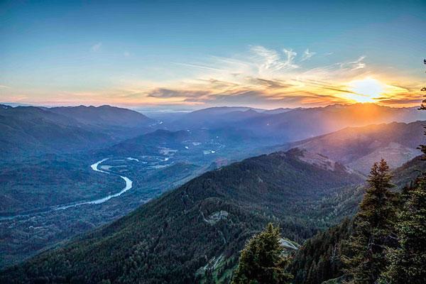 Skagit Valley seen from Sauk Mountain in                           Washington