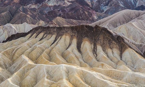 Taken from Zabriskie Point, Death                               Valley National Park in California