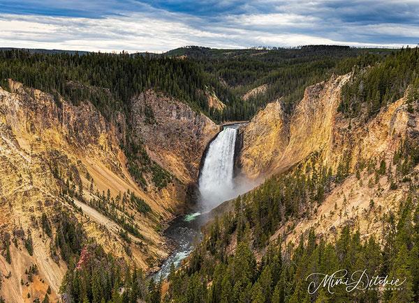 Lower Yellowstone Falls, Yellowstone                             National Park in Wyoming