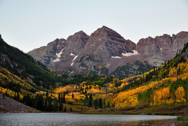-- The Maroon Bells, Elk Mountains, Colorado --