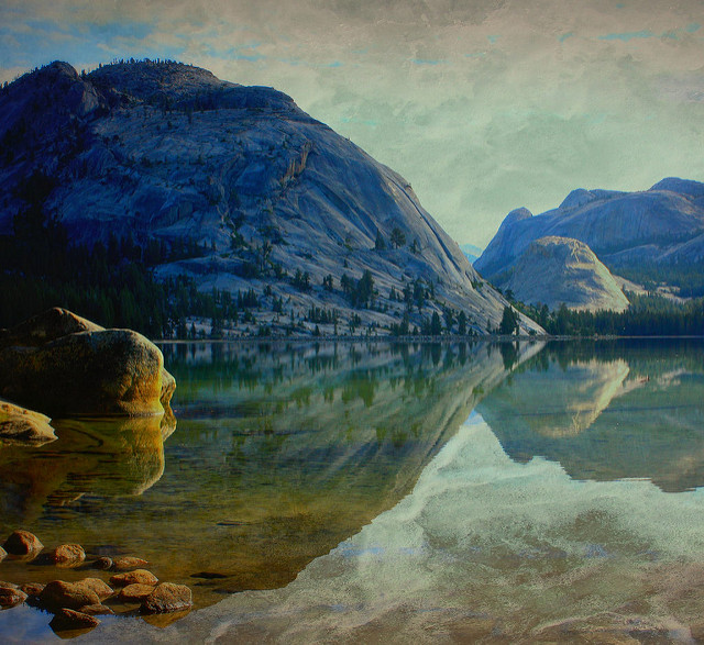 --                         Tenaya Lake, Yosemite National Park, California                         --