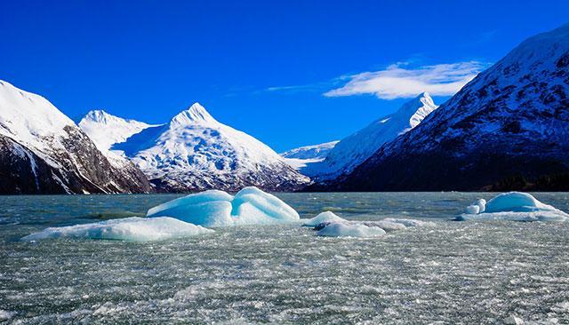 --                         Portage Lake Icebergs in Portage, Alaska --