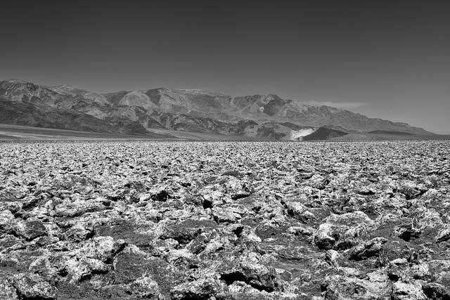 -- Devil's Golf         Course, a large salt pan on the floor of Death Valley, located         in the Mojave Desert within Death Valley National Park --