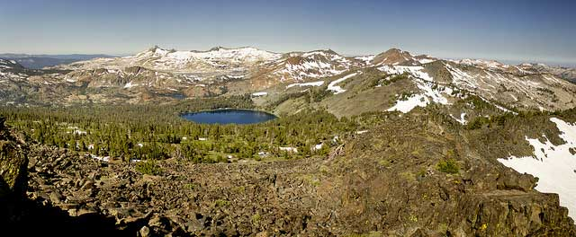-- Mt. Tallac, southwest of Lake Tahoe, in El Dorado County, California --