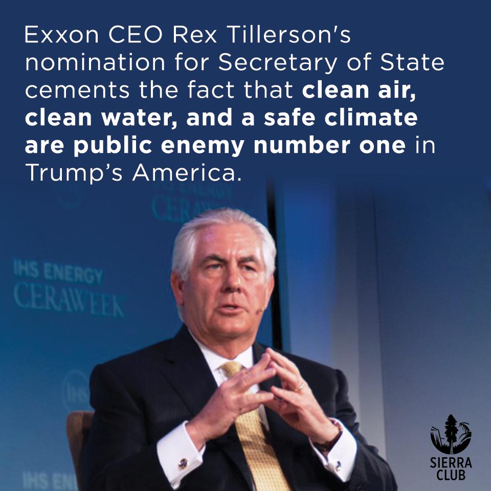Rex Tillerson, CEO of Exxon