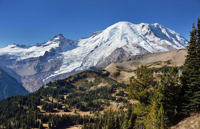 Mount Rainier and           Little Tahoma Peak, Mount Rainier National Park, Washington