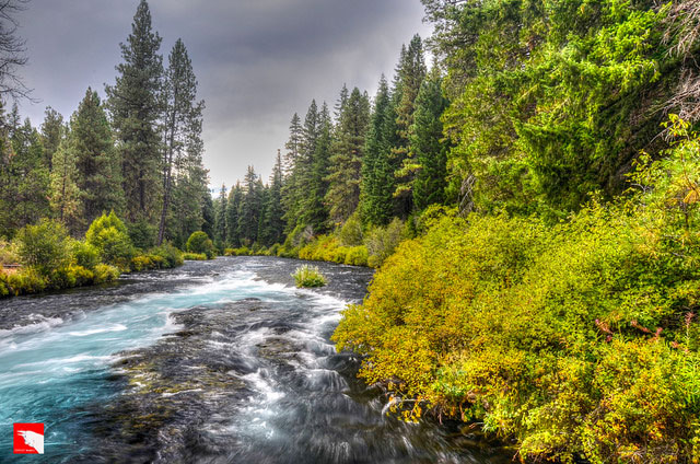 The Metolius               River, a tributary of the Deschutes River in Central               Oregon