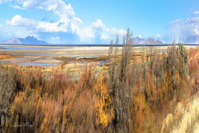 Great Salt                                                       Lake Basin, taken                                                       along I-80, west                                                       of Salt Lake City,                                                       Utah --